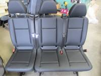New and Used OEM Seats - Mercedes Benz Replacement Seats - 2016 Mercedes Benz Metris Van Black Leather 3-Passenger Bench Seat