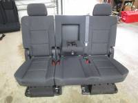New and Used OEM Seats - Chevy/GMC Replacement Seats - 07-13 Chevy Suburban/GMC Yukon XL OE Black/Ebony Cloth 2nd Row Rear Bench Seat