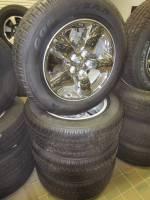 "Takeoff Wheels & Tires - Dodge Truck & Jeep Wheels & Tires - 02-17 Dodge Ram 1500 5 Lug 20"" Chrome Aluminum Wheels & Goodyear Wrangler SR-A P275/60R20 Tires"
