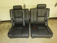 New and Used OEM Seats - Chevy/GMC Replacement Seats - 07-13 Chevy Suburban/GMC Yukon XL OE Black/Ebony Leather 3rd Row Rear Bench Seat