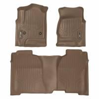 Floor Liners - Chevy/GMC - 14-17 Chevy Silverado/GMC Sierra Crew Cab Maxliner Tan Front and Rear Floor Liners Set