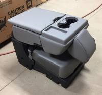 New and Used OEM Center Consoles - Ford Center Consoles - 2017 Ford F-250/F-350/F-450 SD OEM Gray 40-20-40 Vinyl Jump Seat Center Console