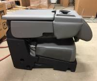 17-19 Ford F-250/F-350 SD 15-19 F-150 OEM Gray 40-20-40 Vinyl Jump Seat Center Console - Image 8
