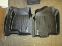 Floor Liners - Chevy/GMC - Slightly Used 99-07 Chevy Silverado Crew Cab Maxliner Black Front & Rear Floor Liner Set