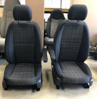New and Used OEM Seats - Mercedes Benz Replacement Seats - 16-18 Mercedes Benz Metris Van Black Cloth Front Buckets