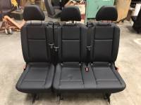 New and Used OEM Seats - Mercedes Benz Replacement Seats - 16-18 Mercedes Benz Metris Van Black Leather 3-Passenger Bench Seat