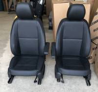 New and Used OEM Seats - Mercedes Benz Replacement Seats - 16-18 Mercedes Benz Metris Van Black Leather Front Buckets