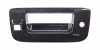 Tailgate - Chevy - 07-14 Chevy Silverado/GMC Sierra Tailgate Handle Bezel, Smooth Black, w/ Key Hole, w Camera