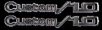 "Fender - Chevy - Key Parts - 69-72 Chevy ""CUSTOM 10 "" Fender Emblem Set w/ Hardware (2 Emblems)"