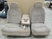 New and Used OEM Seats - Ford Replacement Seats - 97-03 Ford F-150 Electric 60/40 Tan Cloth Bench Seat
