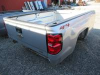 14-18 Chevy Silverado - 8ft Long Bed - New 14-18 Chevy Silverado Silver 8ft Long Truck Bed
