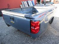 14-18 Chevy Silverado - 8ft Long Bed - New 14-18 Chevy Silverado Blue/Gray 8ft Long Truck Bed