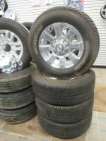 Takeoff Wheels & Tires - Ford Truck and Van Wheels & Tires - Used 05-19 Ford F-250/F-350 Super Duty 8 Lug 20 in. Polished Aluminum Wheels & Michelin LTX A/T2 LT275/65/R20 Tires