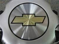 01-10 Chevrolet Silverado 2500 3500 Truck Van 8 Lug OEM Silver Center Caps(Set of 4) - Image 4