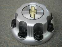 01-10 Chevrolet Silverado 2500 3500 Truck Van 8 Lug OEM Silver Center Caps(Set of 4) - Image 5