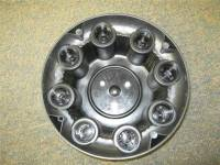 01-10 Chevrolet Silverado 2500 3500 Truck Van 8 Lug OEM Silver Center Caps(Set of 4) - Image 7