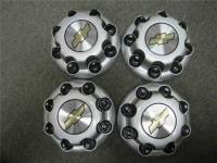 01-10 Chevrolet Silverado 2500 3500 Truck Van 8 Lug OEM Silver Center Caps(Set of 4) - Image 2