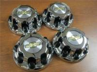Takeoff Wheels & Tires - Center Caps - 01-10 Chevrolet Silverado 2500 3500 Truck Van 8 Lug OEM Chrome Center Caps(Set of 4)