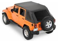 Used Truck Caps & Lids - 07-18 Jeep Wrangler Rampage Sailcloth Trail Soft Top With Tinted Windows