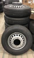 Takeoff Wheels & Tires - Import Wheels & Tires - 13-16 Mercedes-Benz Sprinter 3500 Van 16x5.5 6 Lug Dually Steel Wheel & Tire set