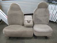 New and Used OEM Seats - Ford Replacement Seats - 97-03 Ford F-150 Manual 60/40 Tan Cloth Bench Seat