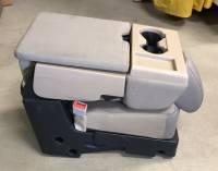 17-19 Ford F-250/F-350/F-450 SD OEM TAN 40-20-40 Cloth Jump Seat Center Console - Image 2