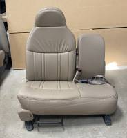 New and Used OEM Seats - Ford Replacement Seats - 98-00 Ford F-150 Lariat OEM Front Tan Leather 60-Section Bench Seat RH Pass Side