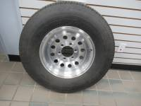 Trailer Tires & Wheels - Takeoff Trailer Wheels and Tires - GoodYear Marathon ST235/80R16 Load Range D Trailer Tires with Sanhua Gun Metal Gray Machined 16 in. 6-Lug Trailer Wheels