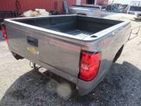 14-18 Chevy Silverado - 8ft Long Bed - New 14-18 Chevy Silverado Metallic Gray 8ft Long Truck Bed