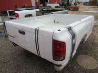 02-08 Dodge Ram Truck Beds - 8ft Long Bed - Used 03-09 Dodge Ram 1500/2500/3500 White 8ft Truck Bed