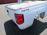 14-18 Chevy Silverado - 6.5ft Short Bed - Used 14-18 Chevy Silverado White 6.5ft Short Truck Bed