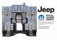 Floor Pan - Jeep - Key Parts - 87-95 Jeep YJ Wrangler Full FLoor Pan Assembly