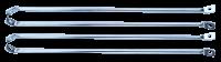 60-66 CHEVY/GMC C-10 Fleet Side Bedside Brace Set, Chrome Plated, 4PC