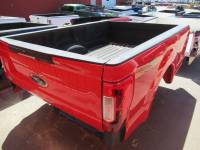 Used 17-C Ford F-250/F-350 Super Duty Red 8ft Long Bed Truck Bed