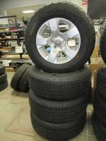 Takeoff Wheels & Tires - Dodge Truck & Jeep Wheels & Tires - 19-20 Dodge Ram New Body 6-Lug 18in. Silver Aluminum Wheels W/ 275-65-18 Goodyear Fortitude HT Tires