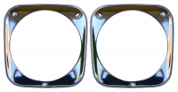 Grille - Chevy - Key Parts - 64-66 Chevy Pickup/Suburban/Panel Truck Chrome Headlight Bezel Set