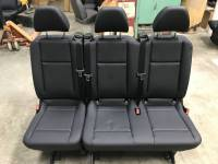 New and Used OEM Seats - Mercedes Benz Replacement Seats - 16-19 Mercedes Benz Metris Van Black Leather 3-Passenger 3rd Row Bench Seat