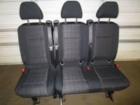 New and Used OEM Seats - Mercedes Benz Replacement Seats - 16-19 Mercedes Benz Metris Van Black Cloth 3-Passenger Split Bench Seat