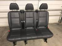 New and Used OEM Seats - Mercedes Benz Replacement Seats - 16-17-18-19 Mercedes Benz Metris Van Aftermarket Black Leather 3-Pass Bench Seat