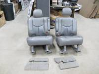 00-06 Chevy Tahoe 2nd Row Gray Leather Bucket Seats