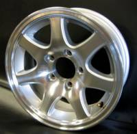 "Trailer Tires & Wheels - 14"" Trailer Wheels  - 14"" 5-Lug 7-Spoke Aluminum Trailer Wheel"