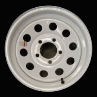 "Trailer Tires & Wheels - 15"" Trailer Wheels  - 15"" 5-Lug Mod White Steel Trailer Wheel"