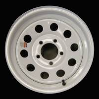 Trailer Tires & Wheels - 13 in. Trailer Wheels  - 13 in. 5-Lug White Steel Trailer Wheel