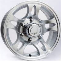Trailer Tires & Wheels - 14 in. Trailer Wheels  - 14 in. 5-Lug 10 Star Split Spoke Aluminum Trailer Wheel